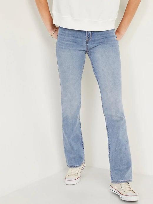 <p>Pick these <span>Old Navy High-Waisted Kicker Boot-Cut Jeans</span> ($38, originally $40) when you want a barely-there flare (and smoothening front pockets, too).</p>