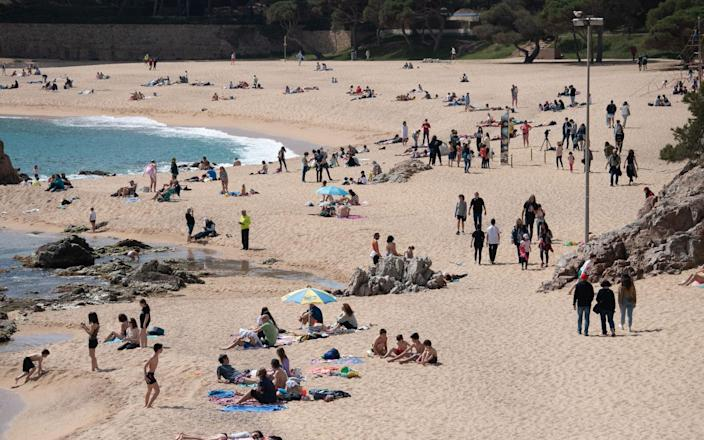 Spain is likely to welcome British holidaymakers from June - Getty