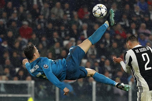 <p>That stunning overhead kick against Juve. </p>