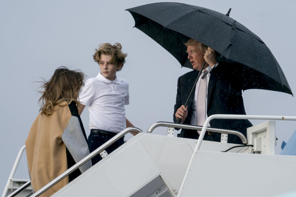 <em>Trump's chivalry skills left a lot to be desired (AP)</em>