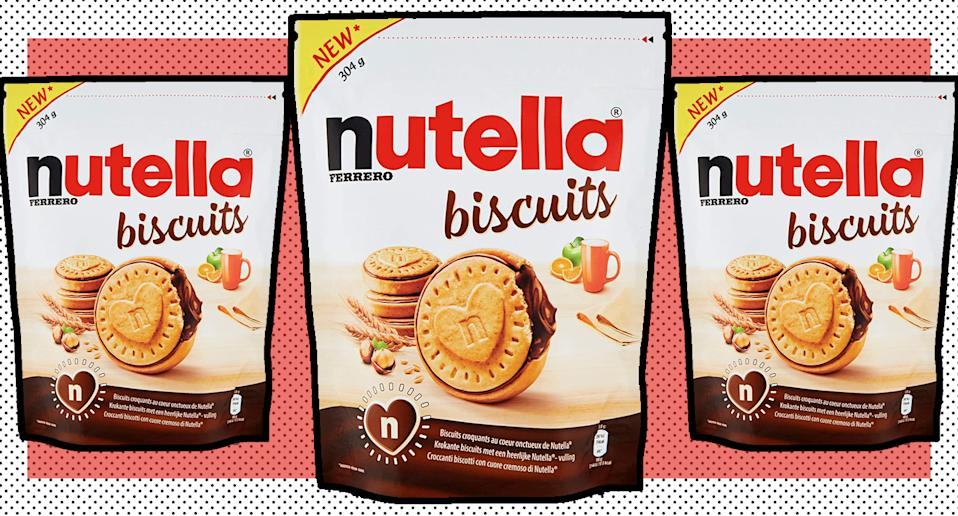 The snack we all need this January: Nutella Biscuits. (Amazon)