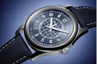 "<p>Patek Philippe Limited Edition Commemorative Calatrava Ref. 6007A</p><p><a class=""link rapid-noclick-resp"" href=""https://www.patek.com/en/collection/all-models"" rel=""nofollow noopener"" target=""_blank"" data-ylk=""slk:SHOP"">SHOP</a></p><p>The completion of a corporate building project is typically marked with a glass of champagne and a few words from the company boss. Patek Philippe, though, has a history of accompanying key events in its history with a new watch. So it has proved on the completion of Patek's architecturally stunning new production building in Geneva, five years in the making. The Patek Philippe Limited Edition Commemorative Calatrava Ref. 6007A is limited to 1,000 pieces and features an unusual polished steel bezel surrounding a dial in a carbon-style texture, a nod to the world of high-tech. The caseback is marked with the brand's Calatrava cross alongside the inscription ""New Manufacture 2019"", denoting the year the company's first departments moved into the building. Celebrations all round. </p><p>£21,700; <a href=""https://www.patek.com/en/collection/all-models"" rel=""nofollow noopener"" target=""_blank"" data-ylk=""slk:patek.com"" class=""link rapid-noclick-resp"">patek.com</a></p>"