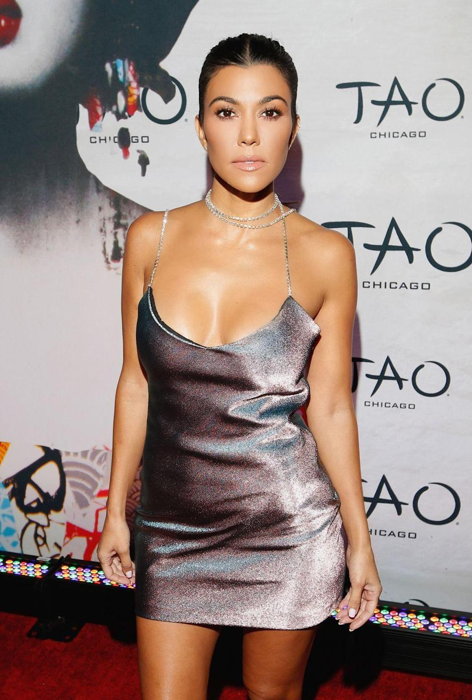 """<p>Kourtney Kardashian got breast implants when she was 22, but on an episode of Keeping Up With The Kardashians, she said she wished she hadn't. 'I had my boobs done but if I could go back, I wouldn't have done it. I was so cute before,' <a href=""""https://people.com/health/crystal-hefner-kourtney-kardashian-celebs-who-regret-getting-breast-implants/?slide=2345419#2345419"""" rel=""""nofollow noopener"""" target=""""_blank"""" data-ylk=""""slk:she said"""" class=""""link rapid-noclick-resp"""">she said</a>. 'I've realised that I was made to look a certain way and I'm considering removing them.'</p>"""