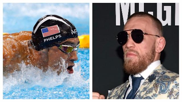 He's taken on Floyd Mayweather Jr and could Michael Phelps be next? The swimming icon has challenged Conor McGregor to a race.