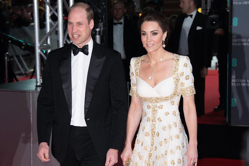 The Duke and Duchess of Cambridge attend the EE British Academy Film Awards 2020 at Royal Albert Hall on February 02, 2020 (Gareth Cattermole/Getty Images)