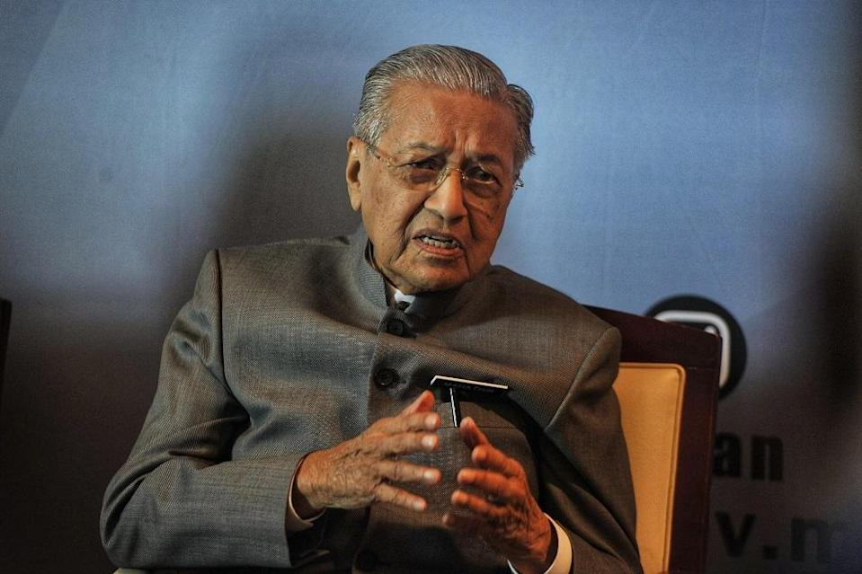 Tun Dr Mahathir Mohamad stressed that he is very particular about being seen as favouring his own family that he barred his own children from participating actively in politics when he was prime minister. — Picture by Shafwan Zaidon