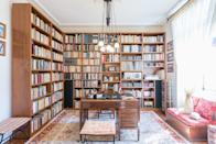 """If you're looking to up your Greek literacy, this office-library in <a href=""""https://www.cntraveler.com/story/why-you-should-stay-in-athens-on-your-next-trip-to-greece?mbid=synd_yahoo_rss"""" rel=""""nofollow noopener"""" target=""""_blank"""" data-ylk=""""slk:Athens"""" class=""""link rapid-noclick-resp"""">Athens</a> is filled with tomes to practice your <a href=""""https://www.cntraveler.com/story/best-language-learning-apps?mbid=synd_yahoo_rss"""" rel=""""nofollow noopener"""" target=""""_blank"""" data-ylk=""""slk:language skills"""" class=""""link rapid-noclick-resp"""">language skills</a>. Built in the 1920s, the two-bedroom (with a sofa bed in the second bedroom) is within walking distance of the city's historical monuments and more modern sights when you wrap up working from the antique desk or perusing the records included in the library. $44, Airbnb (Starting Price). <a href=""""https://www.airbnb.com/rooms/13015874"""" rel=""""nofollow noopener"""" target=""""_blank"""" data-ylk=""""slk:Get it now!"""" class=""""link rapid-noclick-resp"""">Get it now!</a>"""
