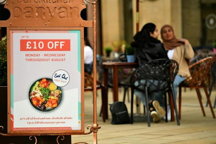 """A government """"Eat Out to Help Out"""" scheme has offered discounted restaurant meals"""