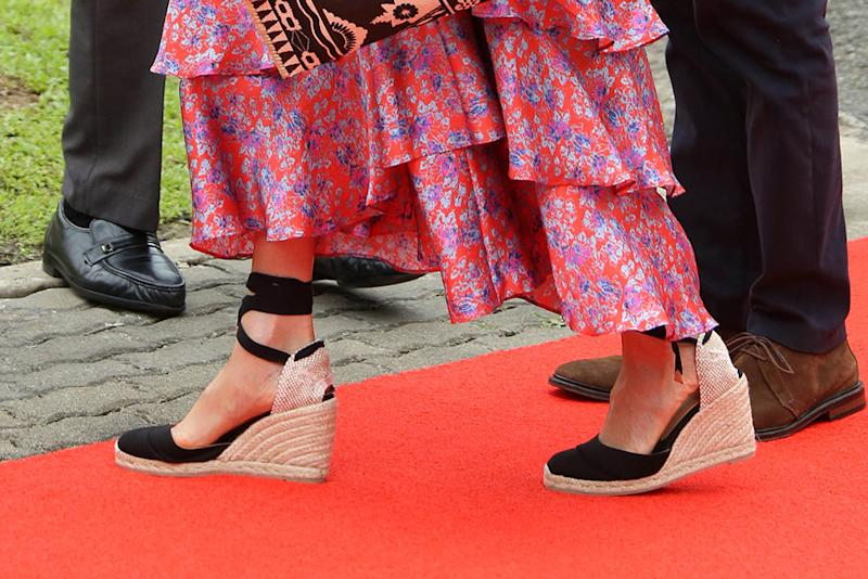 dc5dae73c2b Meghan Markle's Favorite Castañer Wedges Are On Sale for $91