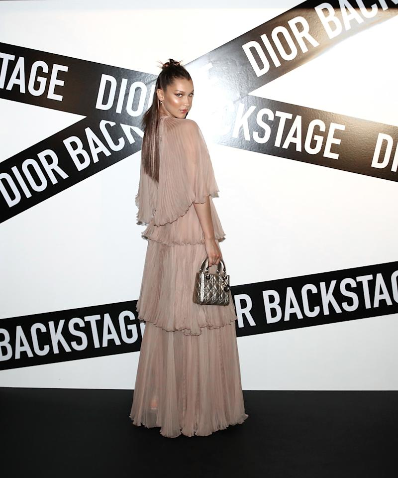 WHO: Bella Hadid<br />WHAT: Dior<br />WHERE: At the Dior Backstage launch party, Seoul<br />WHEN: June 11, 2018