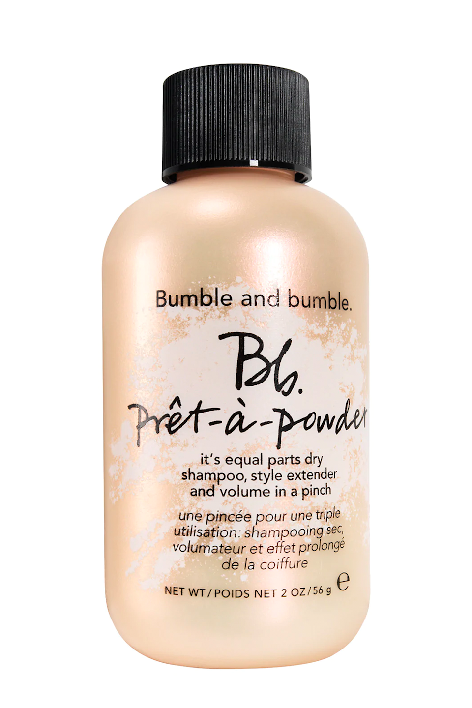 """<p><strong>Bumble and bumble</strong></p><p><strong>$28.00</strong></p><p><a href=""""https://go.redirectingat.com?id=74968X1596630&url=https%3A%2F%2Fwww.ulta.com%2Fbbpret-a-powder%3FproductId%3DxlsImpprod16451080&sref=https%3A%2F%2Fwww.cosmopolitan.com%2Fstyle-beauty%2Fbeauty%2Fg34362098%2Fbest-hair-volumizing-powder%2F"""" rel=""""nofollow noopener"""" target=""""_blank"""" data-ylk=""""slk:Shop Now"""" class=""""link rapid-noclick-resp"""">Shop Now</a></p><p>Remember when I said volume powder can multitask as <a href=""""https://www.cosmopolitan.com/style-beauty/beauty/g30570039/best-drugstore-dry-shampoo/"""" rel=""""nofollow noopener"""" target=""""_blank"""" data-ylk=""""slk:dry shampoo"""" class=""""link rapid-noclick-resp"""">dry shampoo</a>? This cult-favorite powder from Bumble and Bumble is the perfect example. <strong>Blend it into your roots when your hair looks a little greasy or flat</strong>, and the starchy, oil-absorbing formula will give it plenty of life (read: volume on volume).</p>"""