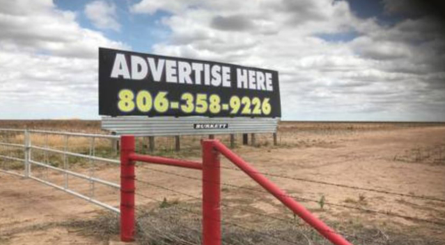 The billboard is available for advertisements after the anti-liberal message was removed. (Photo: KAMR/KCIT)