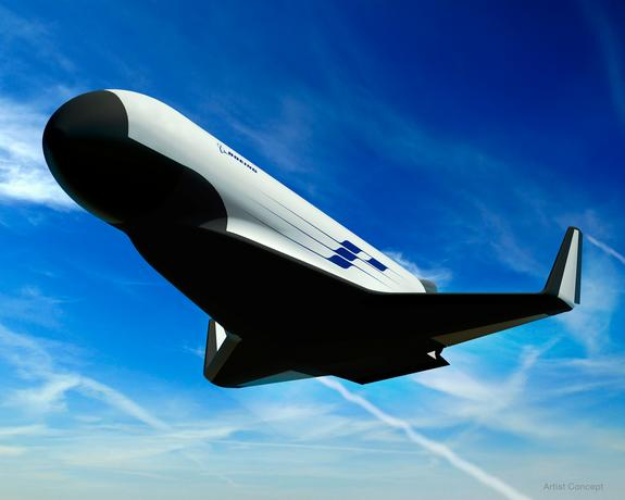 This concept art depicts one possible design for the U.S. Military's XS-1 Experimental Spaceplane by Boeing, which was tapped by DARPA as one of three aerospace teams to draw up designs for the robotic spacecraft.