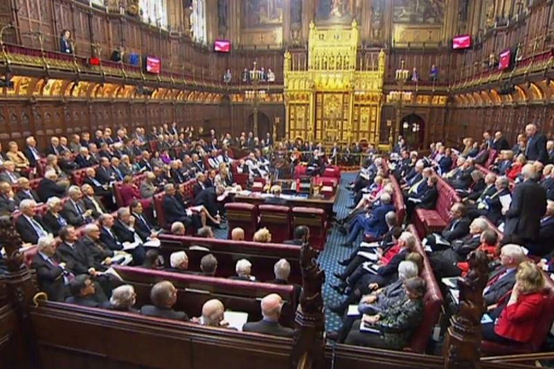 The House of Lords chamber on March 7 for the third day of the Brexit bill debate: AFP/Getty Images