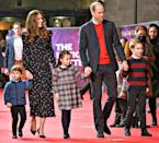 """<p>The Cambridge kids made their <a href=""""https://people.com/royals/kate-middleton-prince-william-bring-prince-george-princess-charlotte-theater-christmas/"""" rel=""""nofollow noopener"""" target=""""_blank"""" data-ylk=""""slk:red carpet debut"""" class=""""link rapid-noclick-resp"""">red carpet debut</a> in December during a night out at the theater.</p>"""