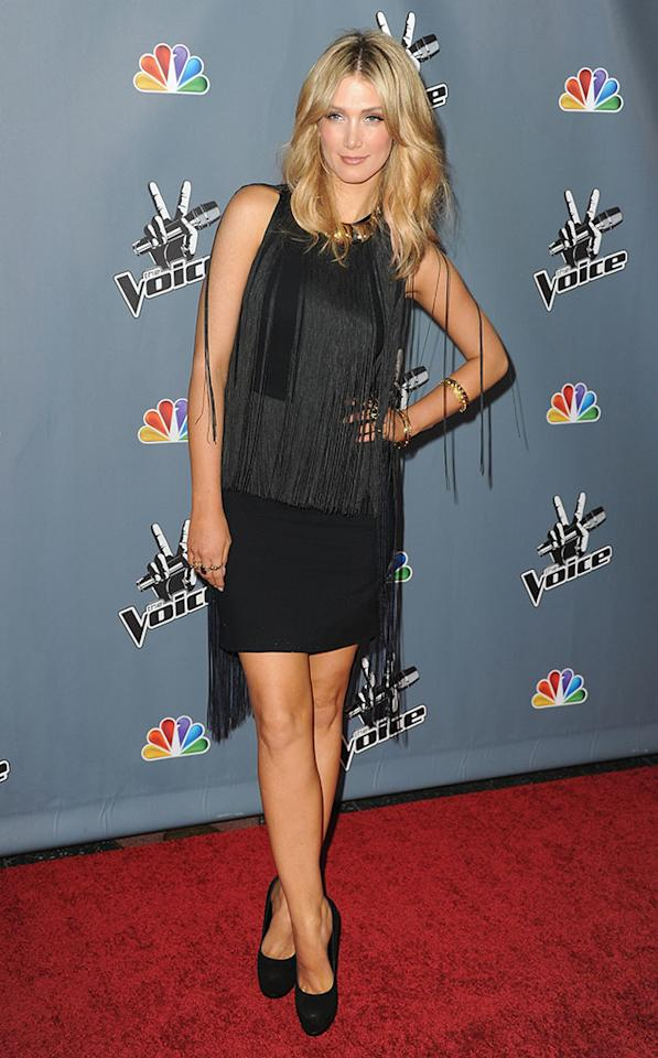 "Delta Goodrem arrives at the screening of NBC's ""The Voice"" Season 4 at TCL Chinese Theatre on March 20, 2013 in Hollywood, California."