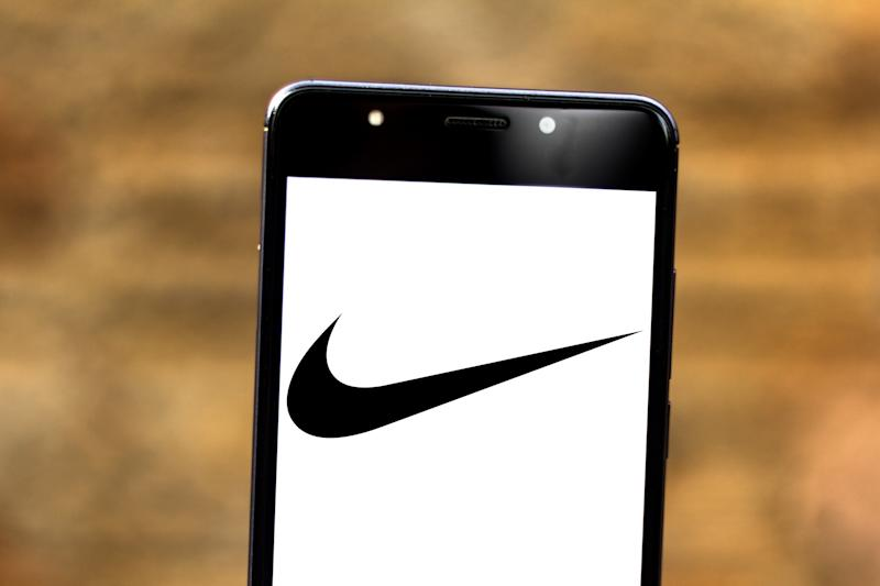 BRAZIL - 2019/07/04: In this photo illustration a Nike logo seen displayed on a smartphone. (Photo Illustration by Rafael Henrique/SOPA Images/LightRocket via Getty Images)