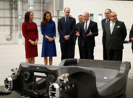 Britain's Prince William, and Catherine, Duchess of Cambridge visit McLaren Automotive's new Composites Technology Centre in Rotherham