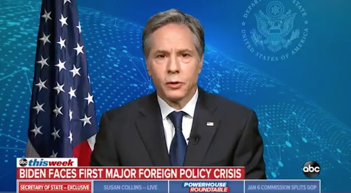 """<p>Antony Blinken, Secretary of State spoke about the """"grave"""" humanitarian crisis in Gaza and their plans for going forward on ABC News</p> (Twitter/ABC News)"""