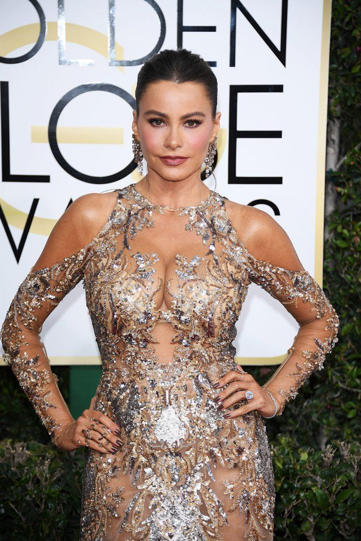 Sofia Vergara attends the 74th Golden Globe Awards. (Photo: Getty Images)