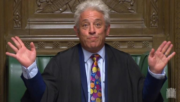 John Bercow, the man behind Friday's spike in sterling (AFP Photo/HO)