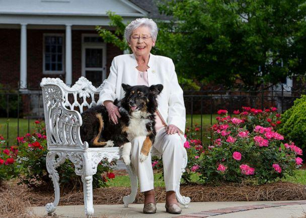 PHOTO: This photo provided by the Office of Alabama Gov. Kay Ivey, shows Ivey and her dog Missy in a photo released on Jan. 29, 2020.  (Hal Yeager/Office of Alabama Gov. Kay Ivey via AP)