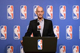 NBA commish Adam Silver faced intense social media scrutiny in his handling of Donald Sterling. (Getty)