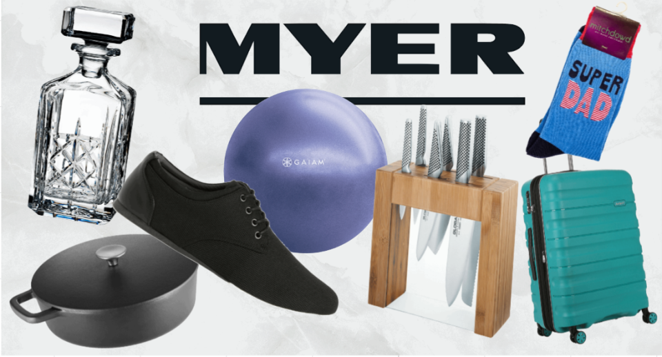 Still need to buy a Father's Day gift? Myer is having a massive Super Weekend sale starting Friday.