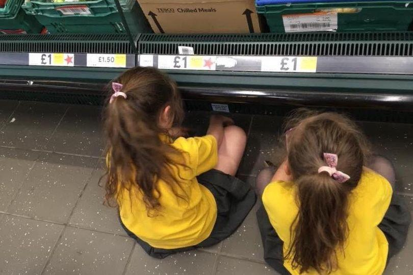 Louise Palai made her daughters sit on the floor in Tesco when they were misbehaving [Photo: SWNS]