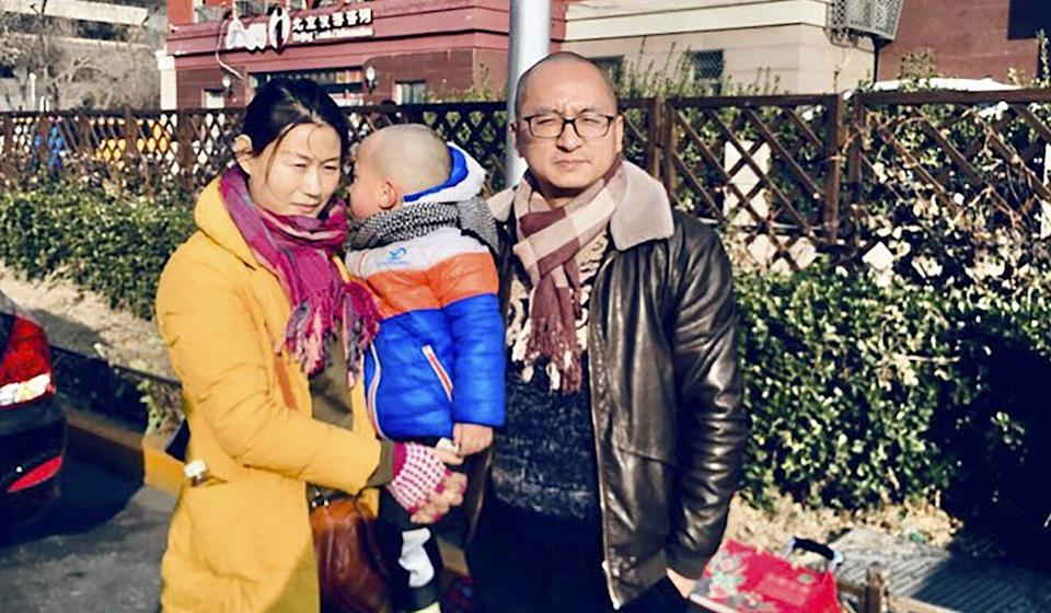 The Wangs' four young children are in the care of the poet's mother. Photo: Twitter