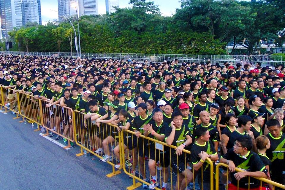 There were nearly 20,000 runners who took part in the race. (Photo courtesy of Nike Singapore)