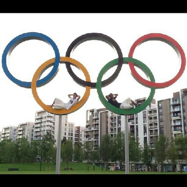 @samuelmikulak and I chillin in the Olympic Village ‏@JohnW_Orozco