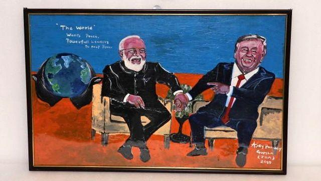 The auction features models of important buildings, sculptures, paintings and souvenirs that the PM received from visiting dignitaries and during important functions over the last two years. One such painting that is being sold is this one of Modi and then United States president Donald Trump. This painting was presented to Modi by Ajay Punucy Gumla from Jharkhand. Image Courtesy: pmmementos.gov.in