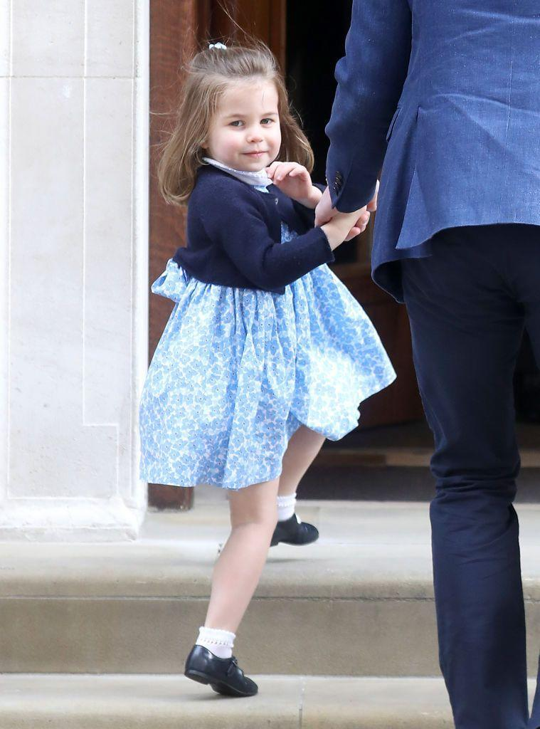 """<p>The Cambridge's only <a href=""""https://www.elle.com/uk/life-and-culture/culture/a19680703/prince-george-princess-charlotte-visit-royal-baby-brother/"""" rel=""""nofollow noopener"""" target=""""_blank"""" data-ylk=""""slk:daughter looked thrilled"""" class=""""link rapid-noclick-resp"""">daughter looked thrilled </a>to walk up the stairs of the Lindo Wing to<a href=""""https://www.elle.com/uk/life-and-culture/culture/a19596075/kate-middleton-gives-birth-third-royal-baby/"""" rel=""""nofollow noopener"""" target=""""_blank"""" data-ylk=""""slk:meet her new baby brother, Prince Louis"""" class=""""link rapid-noclick-resp""""> meet her new baby brother, Prince Louis </a>on April 23 2018.</p>"""