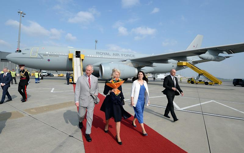 The Prince of Wales and Duchess of Cornwall arrive in Vienna - Credit:  John Stillwell/PA