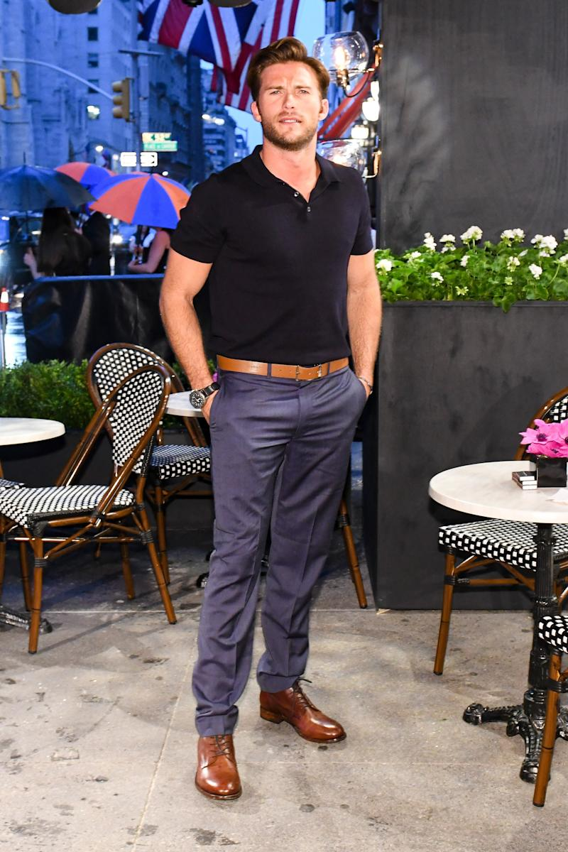 Scott Eastwood attends the opening of Longchamp's Fifth Avenue flagship store.