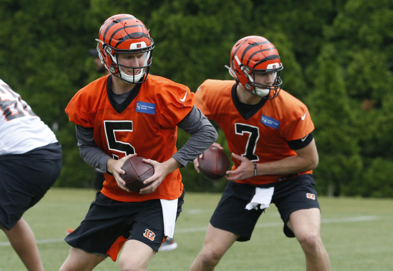 the best attitude c514f 26126 QB Ryan Finley gets first crack at running Bengals' offense