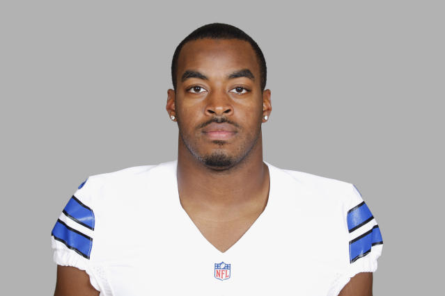 FILE - This 2014, file photo shows DeVonte Holloman of the Dallas Cowboys NFL football team. Holloman has what coach Jason Garrett describes as a career-ending neck injury. Garrett said Thursday, Aug. 21, 2014, that Holloman has been dealing with a neck issue for a couple of weeks. (AP Photo/File)