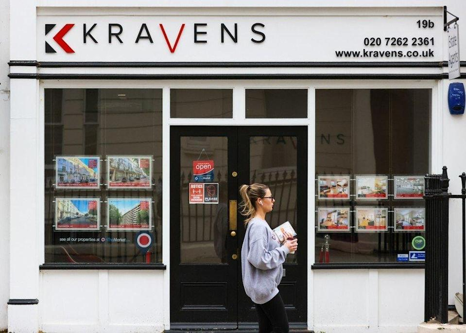 A real estate agent in the Paddington area of London on Friday, May 21, 2021. Photo: Bloomberg