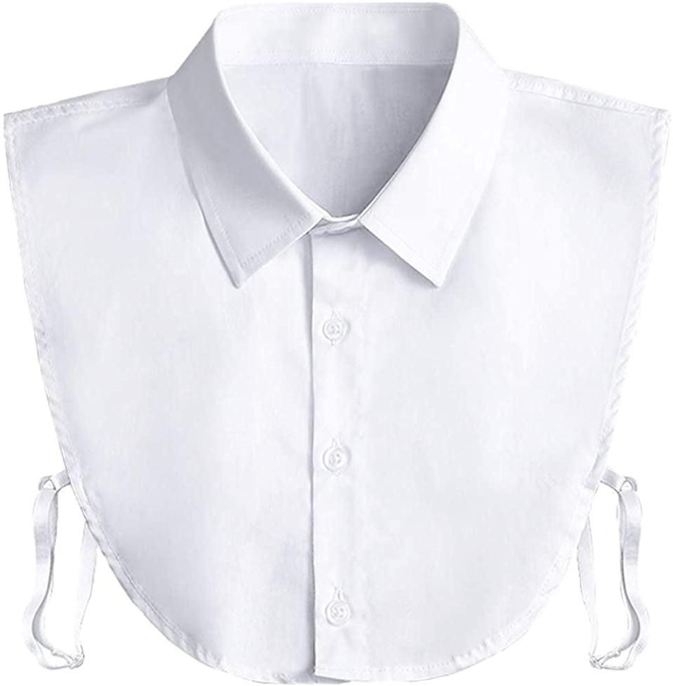 <p>This <span>Kalkehay Collar Detachable Dickey Collar Blouse</span> ($9) packs a lot of nostalgia, but it also looks modern.</p>