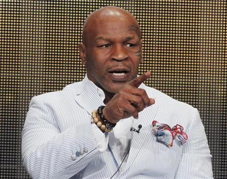 """Mike Tyson, star of HBO Films """"Mike Tyson: Undisputed Truth"""", takes part in a panel discussion in Beverly Hills"""