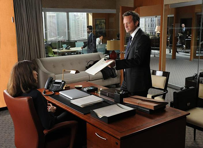 <p>The erstwhile Chandler Bing keeps getting a diverse slate of starring gigs on shows like <em>Mr. Sunshine, Studio 60 on the Sunset Strip</em>, and <em>The Odd Couple</em>. But his best post-Chandler gig to date has been in the recurring role of Mike Kresteva, a rival attorney on <em>The Good Wife</em> and the spinoff <em>The Good Fight</em>.</p>