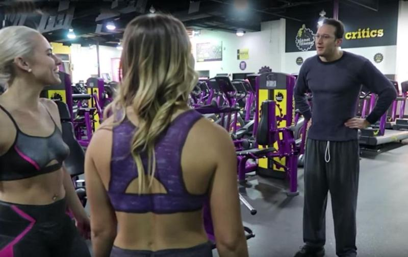 Gym-goers did a double take when they were told. Photo: Youtube