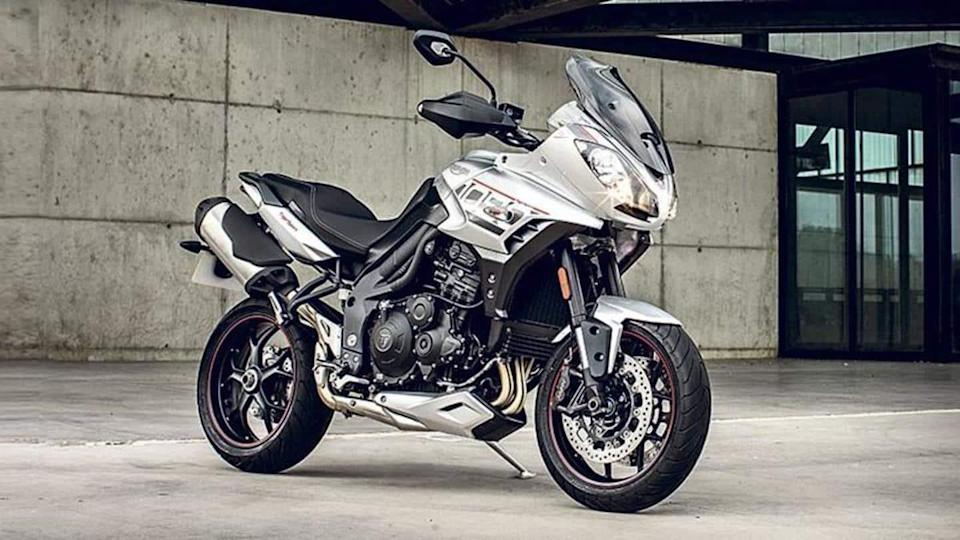 Triumph is working on a new Tiger 850 Sport motorcycle