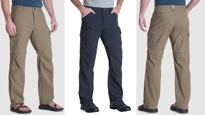 Why pack pants and shorts when you could pack one pair that turns into both?