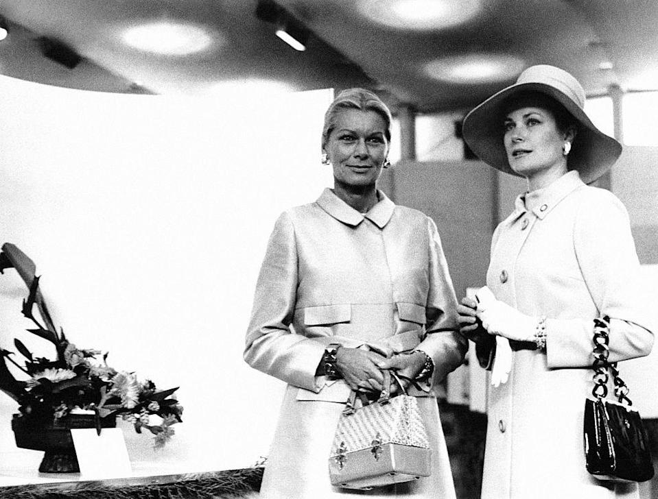 "<p>Actress Grace Kelly and her sister Meggy during the Monte Carlo blossom festival.</p><p>Other celebrity visitors this year: <span class=""redactor-invisible-space"">David Niven, Elizabeth Taylor, Richard Burton.<br></span></p>"