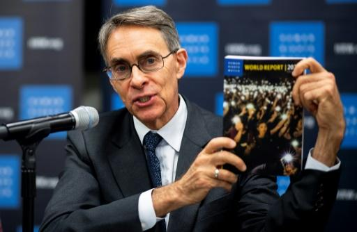 Human Rights Watch Executive Director Kenneth Roth speaks during a news conference to launch the 2020 World Report at the United Nations in New York on January 14, 2020