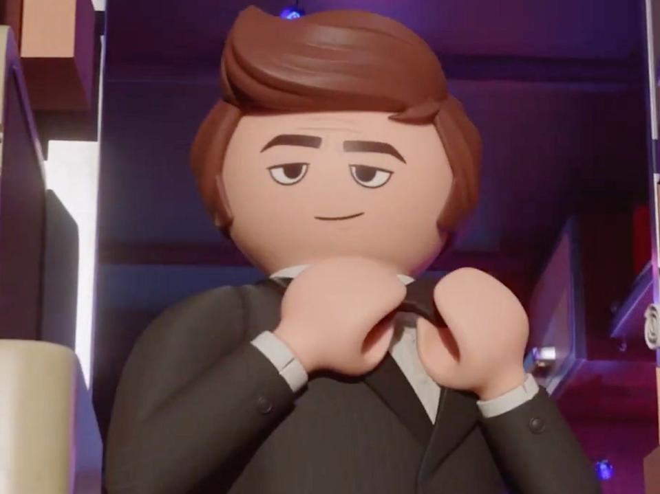 "Daniel Radcliffe's character in ""Playmobil: The Movie."""
