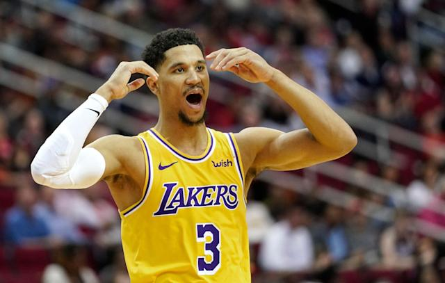 "<a class=""link rapid-noclick-resp"" href=""/nba/players/5843/"" data-ylk=""slk:Josh Hart"">Josh Hart</a> inadvertently tossed shade at new head coach Frank Vogel after going on an anti-analytics rant. (AP Photo/David J. Phillip)"