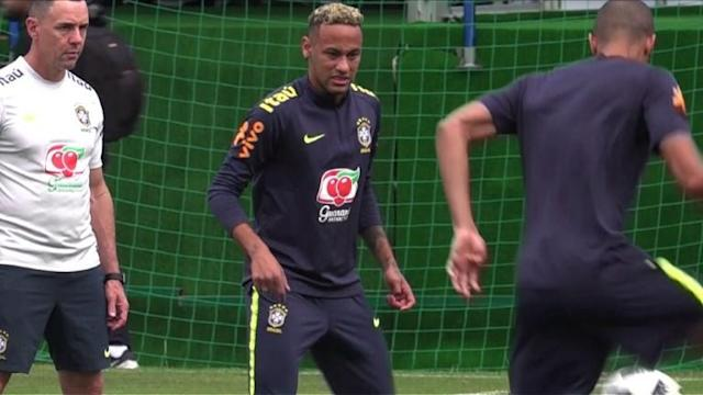 Neymar hobbles out of a training session, setting alarm bells ringing in the Brazil camp as they prepare for their second World Cup group game against Costa Rica on June 22. The pain Brazil star Neymar is feeling is 'normal', Brazilian midfielder Coutinho said at a presser, after the PSG star left training early after feeling discomfort in his right ankle.